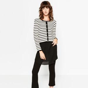 Zara Sweaters - NWOT Zara Knit Size S Striped Pearls Cardigan